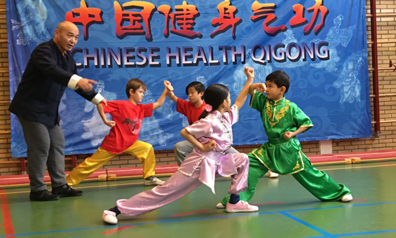 Children demonstrate Wushu & Health Qigong